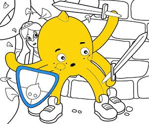 Adventures coloring pages