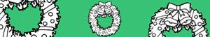 Christmas wreaths and garlands coloring pages