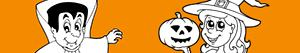 Halloween party coloring pages