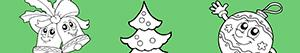 Decorate the Christmas Tree coloring pages