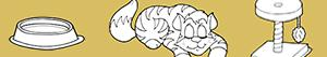 Kitten. Young cat coloring pages