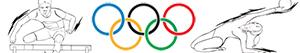 Olympic sports. Athletics. Gymnastics. Combined events coloring pages